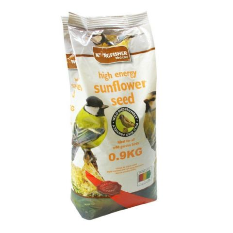 High Energy Whole Sunflower Seeds For Garden Birds Bag Kingfisher Bird Care 900g